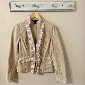 White House Black Market Crushed Velvet Jacket